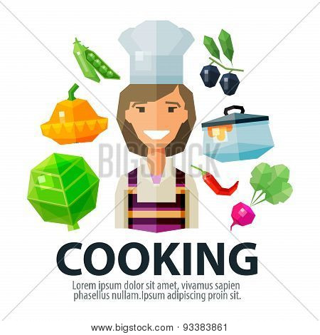 cooking vector logo design template. kitchen or housewife icon