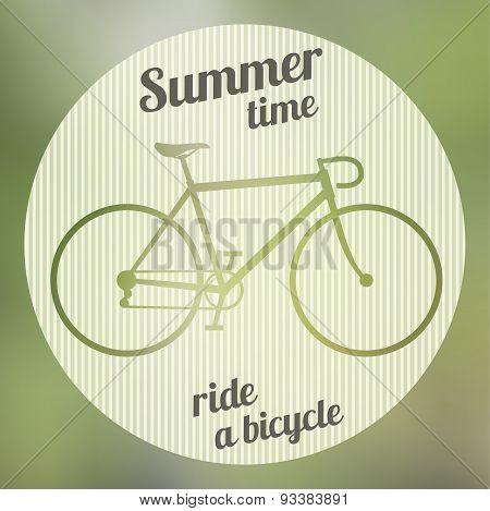 Bicycle green logo