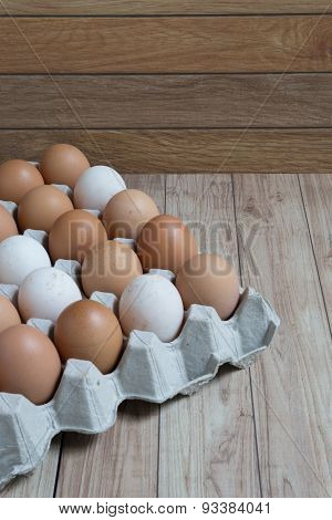 Homogeneous Concept : Different Kinds Of Eggs Stay Together Homogeneously