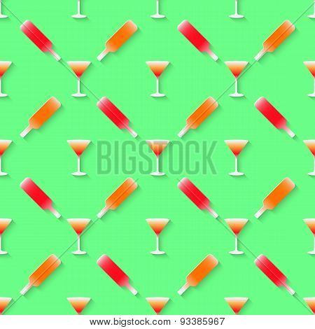 Pattern with color alcohol cocktail mix