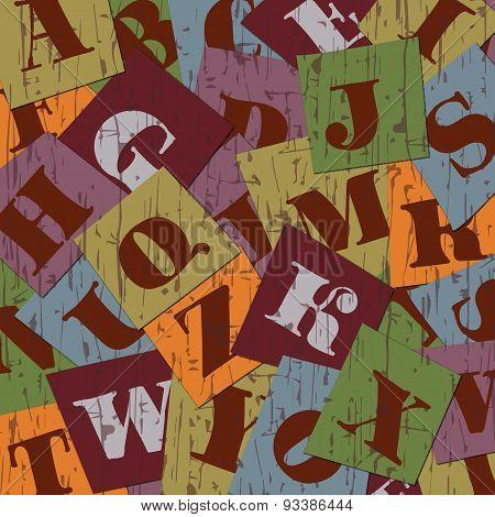 Vintage stylish alphabet background image.
