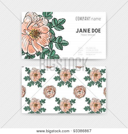Floral color Business cards