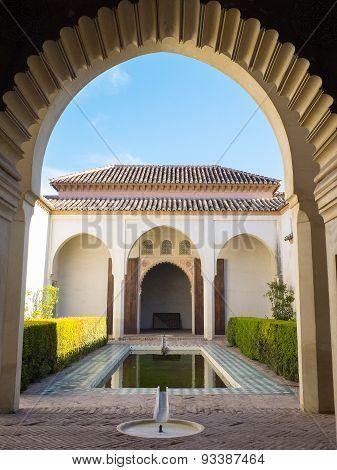 Palace Of The Alcazaba In Malaga, Spain