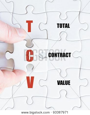 Last Puzzle Piece With Business Acronym Tcv