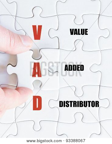 Last Puzzle Piece With Business Acronym Vad