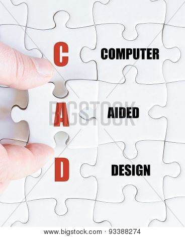 Last Puzzle Piece With Business Acronym Cad
