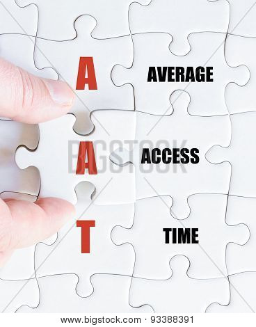 Last Puzzle Piece With Business Acronym Aat
