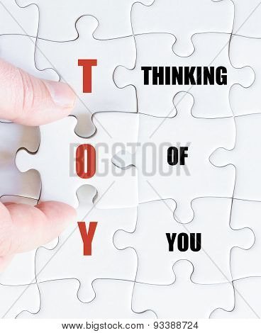 Last Puzzle Piece With Business Acronym Toy