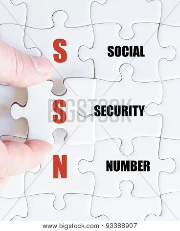 Last Puzzle Piece With Business Acronym Ssn