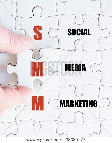 Last Puzzle Piece With Business Acronym Smm