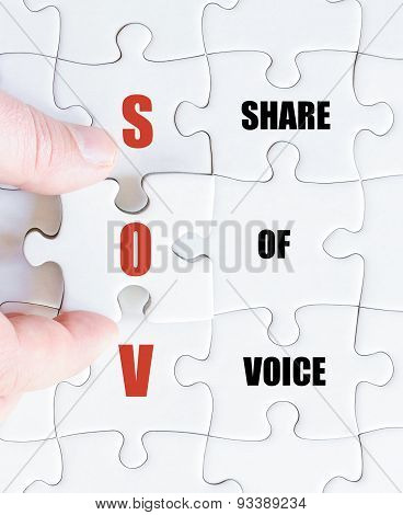 Last Puzzle Piece With Business Acronym Sov