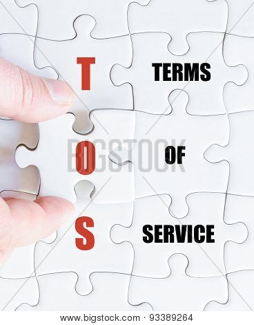 Last Puzzle Piece With Business Acronym Tos