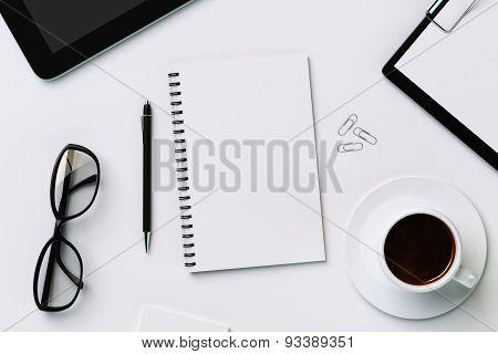 Blank White Diary A