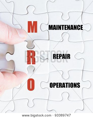 Last Puzzle Piece With Business Acronym Mro