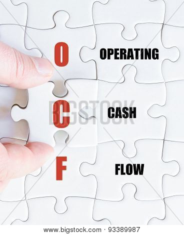 Last Puzzle Piece With Business Acronym Ocf