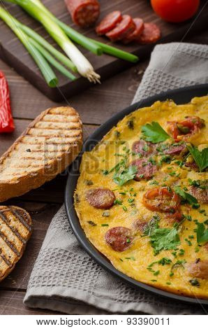 Mens Omelette With Chorizo