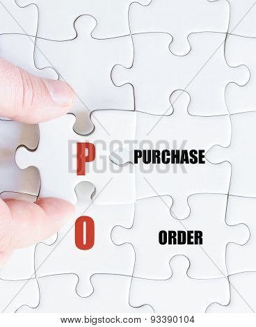 Last Puzzle Piece With Business Acronym Po