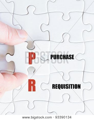 Last Puzzle Piece With Business Acronym Pr