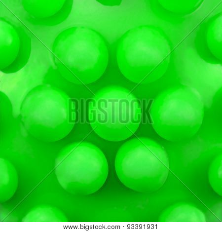 Dog Teeth Massage Toy Ball Knobs Pattern, Large Deailed Green Macro Closeup, Abstract Plastic