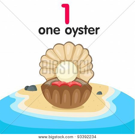 Illustrator of number one oyster