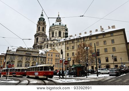 Old Town of Prague in winter