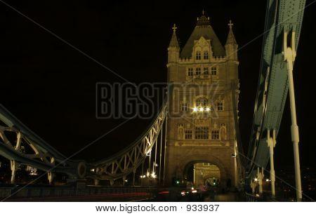 Night Traffic On Tower Bridge
