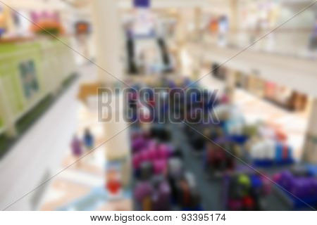 Blurry Defocused Image Of Department Store
