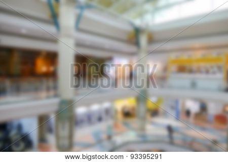 Blurry Defocused Image Of Department Store