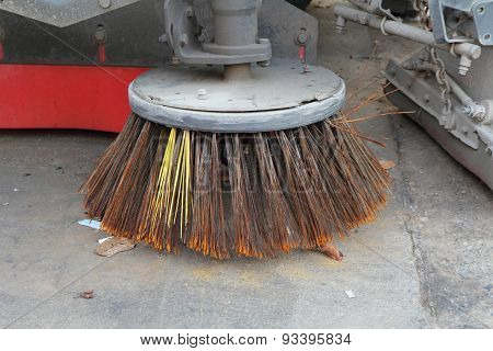 Sweeper Truck cleaning