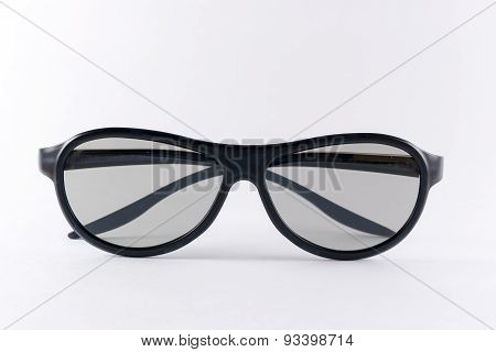 Black 3D Glasses On White