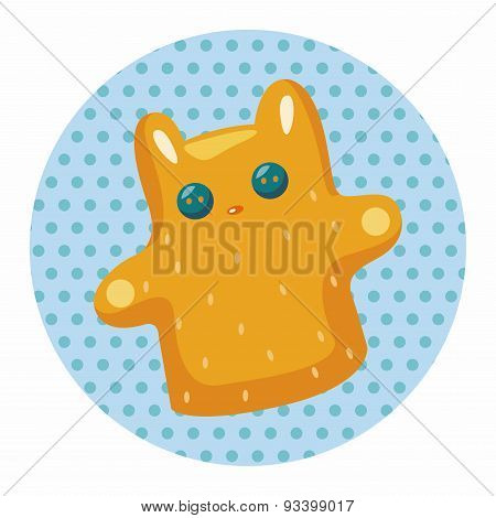 Baby Toy Hand Puppet Theme Elements