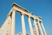 Ruins of famous Acropolis landmark,Greece ,Athens poster