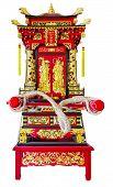 stock photo of debonair  - The sedan chair design and decorate of art at shirn Juytuy Phuket Thailand - JPG