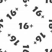 picture of restriction  - Image of 16 plus age restriction - JPG