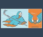 foto of reaper  - Vector illustration design the Ice Hockey Reaper - JPG