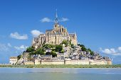 image of michel  - View of famous Mont Saint Michel France Europe. ** Note: Soft Focus at 100%, best at smaller sizes - JPG