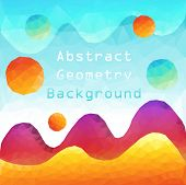 picture of color geometric shape  - Colorful Abstract Geometric Shape  - JPG