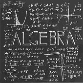 image of subtraction  - The illustration of beautiful black scientific background with handwriting typography - JPG