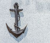 picture of anchor  - The anchor on stone background for design or decorate project. ** Note: Soft Focus at 100%, best at smaller sizes - JPG