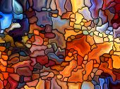 picture of fragmentation  - Stained Glass Pattern series - JPG