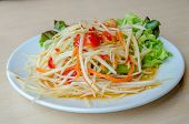 foto of green papaya salad  - Som Tam  - JPG