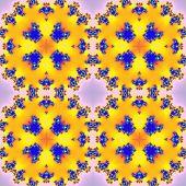 stock photo of mandelbrot  - Fractal floral pattern texture on pink background - JPG
