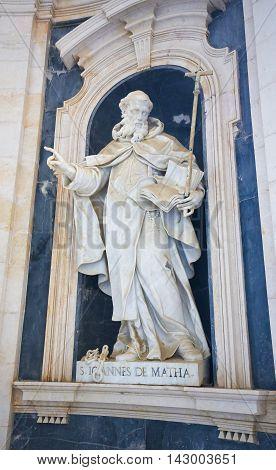 Mafra Palace - Statue Of Saint John Of Matha