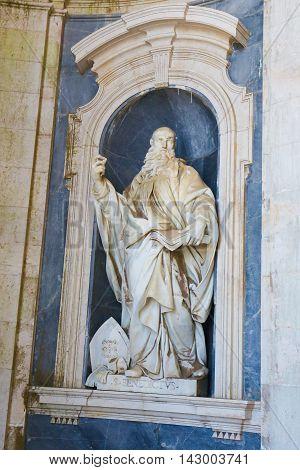 Mafra Palace - Statue Of Saint Benedict