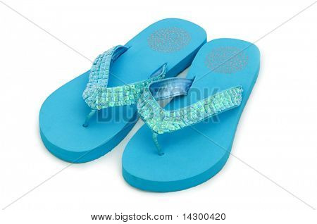 Summer shoes isolated on the white background