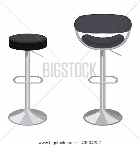 Vector colorful illustration of bar stool in flat style isolated on white background furniture for an interior.
