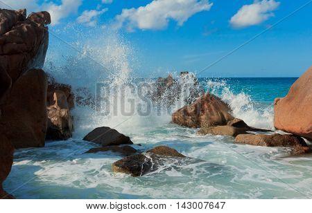 Magnificent Seychelles Violent Surf