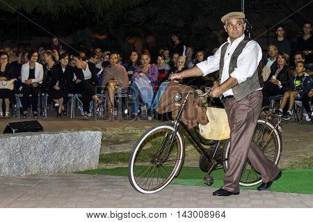 QUARTU S.E., ITALY - September 20, 2015: So dressed in Quartu - parade of costumes and abbigliiamento period - Sardinia