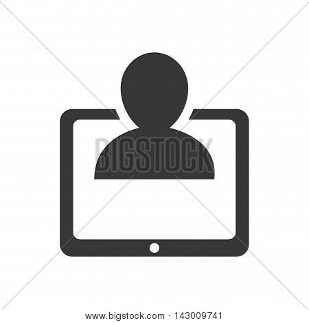 tablet pictogram gadget technology media icon. Isolated and flat illustration. Vector graphic