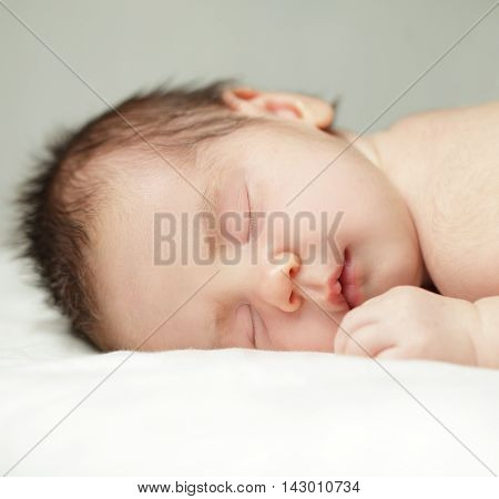 Newborn sleeping baby close-up (up to one month)